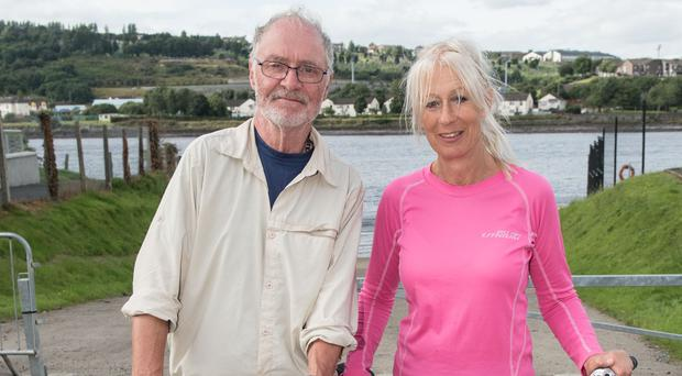 Chris Comber and Catherine Ahearne are raising funds for Foyle Search and Rescue, who recovered their son Sam