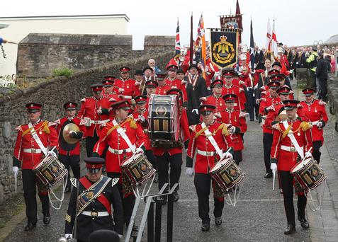The Apprentice Boys of Derry march through the city on Saturday. Pic Declan Roughan/Presseye
