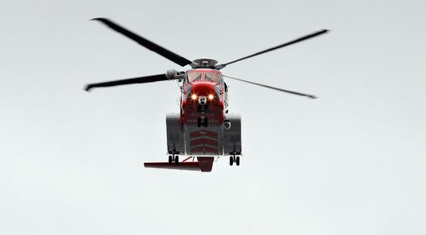 Rescue 118 helicopter stock picture. Picture Credit Frank Mc Grath