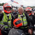 Dr Fred MacSorley with his son Allister and wife Alex at the Ulster Grand Prix