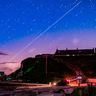 Liam Hughes' photo of the Perseids above Portmuck