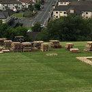 Material is gathered for Bogside pyre