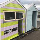 The damage caused to the beach huts.
