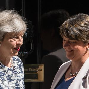 Theresa May with DUP leader Arlene Foster (Dominic Lipinski/PA)