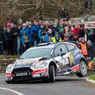 Top gear: Alastair Fisher is aiming to boost his Irish Tarmac title hopes in the Ulster Rall
