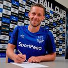 Done deal: Gylfi Sigurdsson has hailed dream Everton move