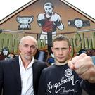 Rising star: Barry McGuigan and Carl Frampton ahead of the Jackal's first Belfast bout in 2010. Photo: William Cherry/Presseye
