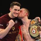 Smacker: Carl Frampton and trainer Shane McGuigan. Photo: Alex Livesey/Getty Images