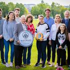 Members of the Murphy family with Alderman Tommy Sandford at the unveiling of a new defibrillator in Cherry Vale playing fields in memory of Mark Murphy on August 17th 2017 (Photo by Kevin Scott / Belfast Telegraph) Pictured (l-r) Kate Murphy; Alderman Sandford; Paula Murphy-Durkan; Deborah Murphy and Grace Murphy.