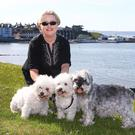 Dog lover: Frances with her dogs