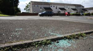 The scene of an attack which took place in Ardgnaglass Gardens, Antrim. PressEye - Belfast - Northern Ireland - 18th August 2017