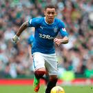 On the ball: James Tavernier says loss won't affect Gers