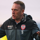 Rallying call: Kenny Shiels knows Derry need to improve if they are to hold onto their advantage in the race for Europe