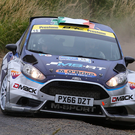 Revved up: Keith Cronin out in front in the Ulster Rally last night
