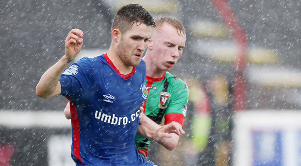 Prospect: Linfield youngster Paul Smyth is being tracked by English clubs