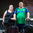 Maureen and Brian Crockard, from Finaghy, arriving home
