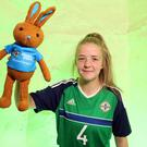 NI u19 football captain Emma McMaster.