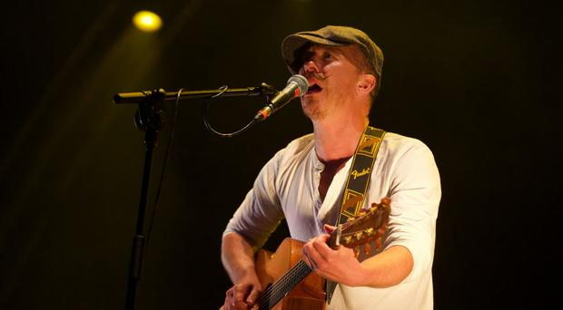 Foy Vance performing at Custom House Square during for the fifth night of CHSq. Saturday 19th August 2017. Picture by Liam McBurney/RAZORPIX