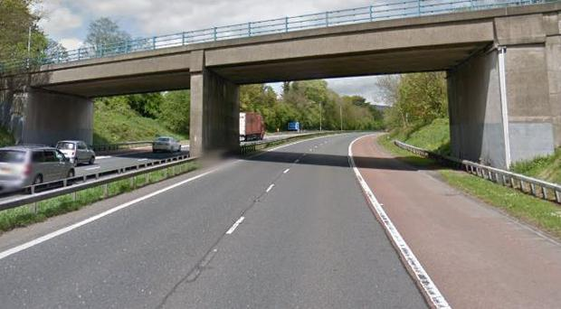 The section of the M1 near to where the collision happened.