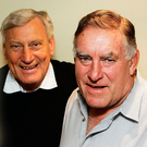 Willie John McBride with Colin Meads