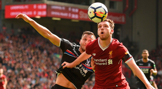 New man: Robertson, an £8million arrival from Hull played well as Liverpool laboured to a 1-0 win