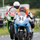 In action: Gavin Lupton during the Superstock practice at last year's Ulster Grand Prix