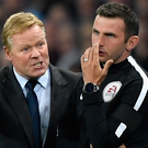 Speaking out: Ronald Koeman and the fourth official