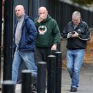 Belfast - Northern Ireland 22nd August 2017 Repbublican Dee Fennell(left), and other members of Ardoyne residents group GARC, pictured entering Belfast Laganside Courts for judgement on a contest regarding charge of holding an unnotified procession.
