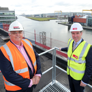 Belfast Harbour chief executive Roy Adair and Gilbert-Ash managing director Ray Hutchinson