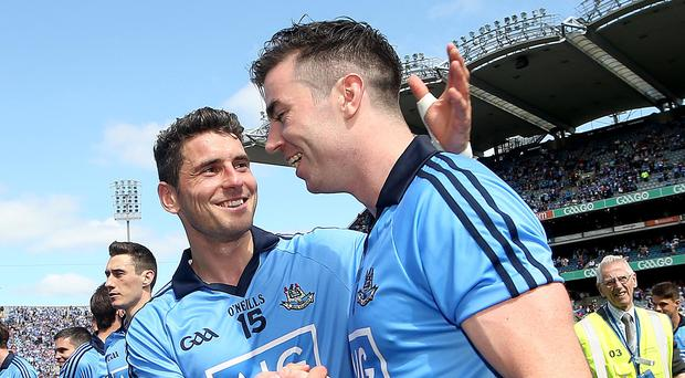 Game changers: Dublin have strength in depth through likes of Bernard Brogan (left) and Michael Darragh Macauley. Photo: James Crombie/INPHO