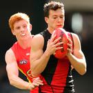 Conor McKenna in action for Essendon last week. Photo: Scott Barbour/Getty Images