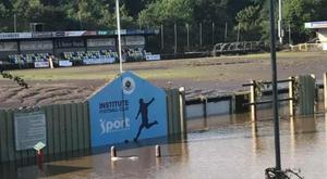 Institute FC's Riverside Stadium was flooded overnight.