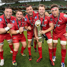 Scarlets won last season's PRO12 final at the Aviva in May.