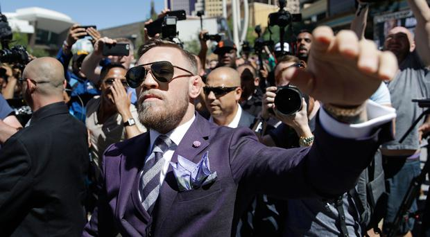 Bring it on: Conor McGregor ready for the big fight. Photo: John Locher/AP