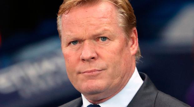 Everton manager Ronald Koeman. Photo: Nick Potts/PA