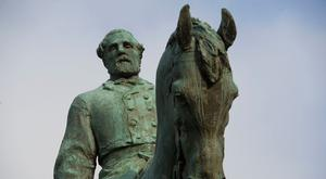 The statue of General Robert E Lee in Charlottesville