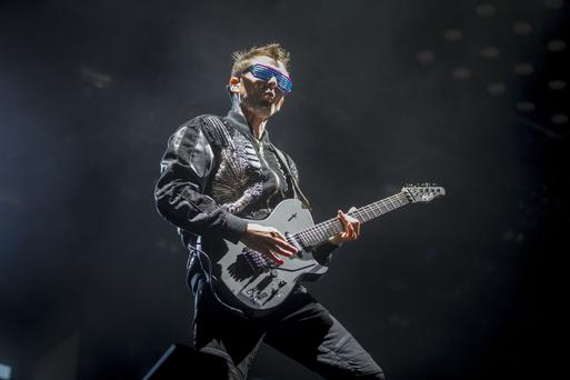 Matt Bellamy of MUSE performing at Belfast Vital. Wednesday 23rd August 217. Picture by Liam McBurney/RAZORPIX
