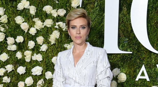 Actress Scarlett Johansson attends the 71st Annual Tony Awards at Radio City Music Hall
