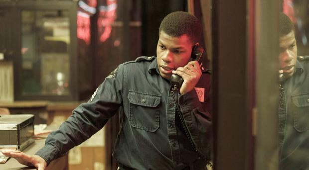 Detroit terror: John Boyega as Melvin Dismukes, the security guard who witnessed the brutal actions in 1967