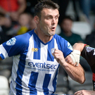 Hot shot: Eoin Bradley has helped Coleraine to three wins
