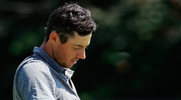 Still struggling: Rory McIlroy started the Northern Trust Open in New York with a round of 73