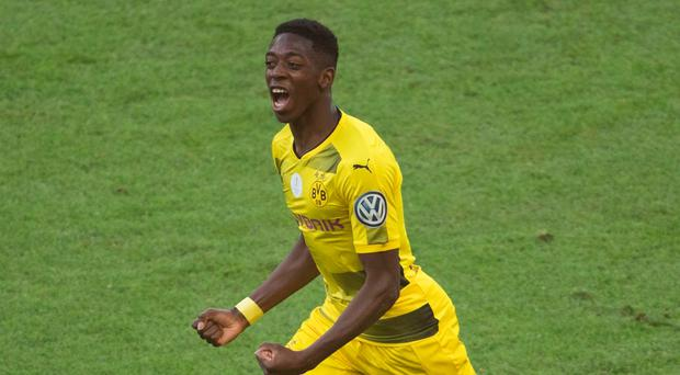 Dortmund's French midfielder Ousmane Dembele has moved to Barcelona.