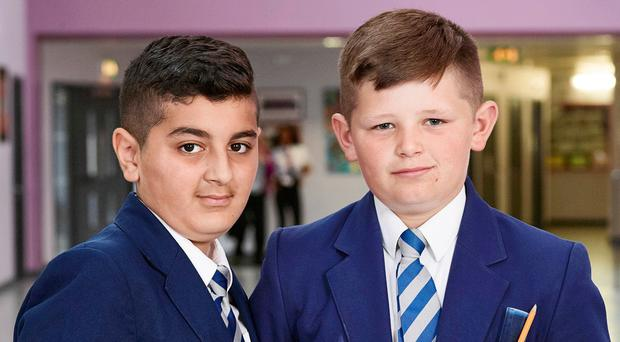 Harrop Fold pupils Rani and Jack in Educating Greater Manchester