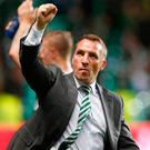 On hand: Brendan Rodgers' side will savour the Champions League atmosphere at Celtic Park. Photo: Jeff Holmes/PA