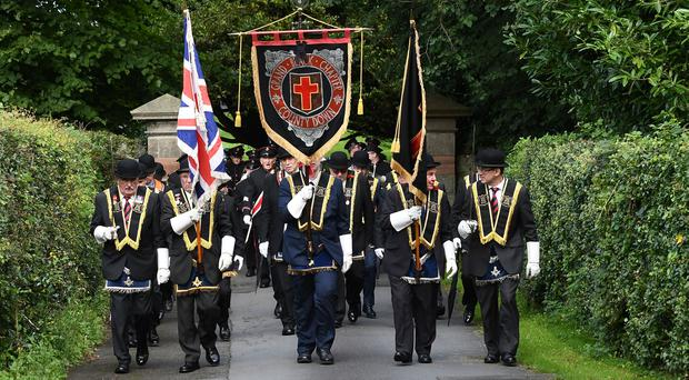 The Royal Black Institution parade takes place in Comber on Saturday, The largest parade of the day took place in Comber where 5,000 members of the Loyal Order took part in the parade. A total of 107 preceptories and approximately 100 bands will take part in the procession.