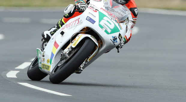 Flying Kiwi: Bruce Anstey on the Padgett's Honda on his way to winning the 250cc Lightweight race at the Classic TT
