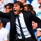 Staying put: Chelsea manager Antonio Conte