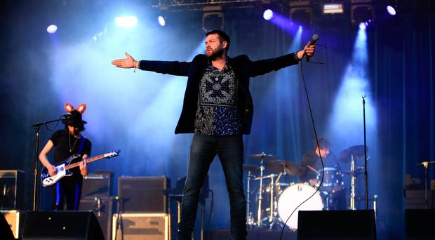 Kasabian front man Tom Meighan was taken to hospital with vomiting forcing the band to pull out of their Belfast show. Pic: Nick Potts/PA Wire