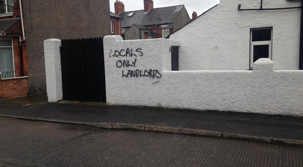 Councillor David Armitage says the graffiti was painted in the Dunraven Avenue and Glenbrook Avenue area (Picture: Alliance)