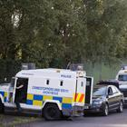 Police at the scene in the Springmartin area of west Belfast